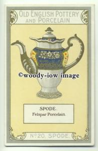 su2024 - Old English Pottery & Porcelain - Spode - postcard Chairman Cigs