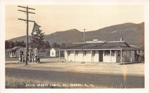 North Conway NH Socony Gas Pumps Station Green Granile Camps RP Postcard