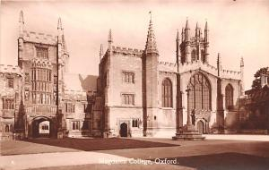 Oxford United Kingdom, Great Britain, England Magdalen College Oxford Magdale...