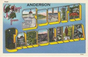 Large Letter SOUTH CAROLINA , 30-40s; Anderson Overprint