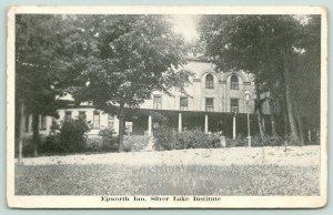 Silver Lake New York~Silver Lake Institute~Epworth Inn~Shaded by Trees~1921 B&W