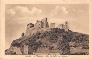 Portugal Leiria - O Castelo visto do lado da cidade
