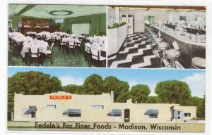 Fedele's Italian Restaurant Madison Wisconsin postcard