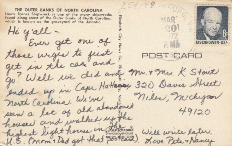 OUTER BANKS, North Carolina, PU-1965; Laura Barnes Shipwreck