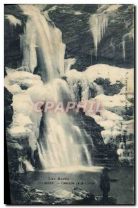 Old Postcard Colmars The Alps Cascade Lance