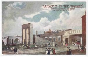 Manchester UK Railway Station 1830s L&NW London North Western 1910c postcard