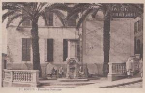 Rome Roman Fountain Bougie Algeria Antique Algerian Mediterranean Old Postcard