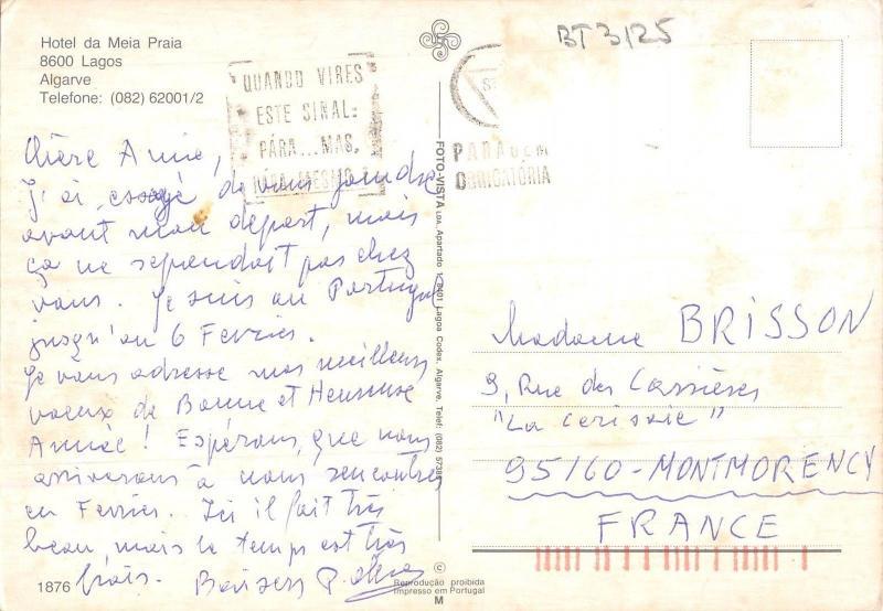 BT3125 Hotel da Meia Praia Lagos lagarve    Niger