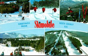 New Hampshire White Mountains North Conway Greetings From Skimobile Multi View
