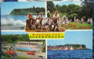 England Greetings from Scarborough Multi-view - posted 1969