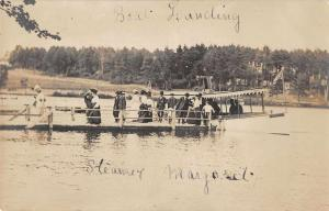 Boat Landing Steamer Maryland Real Photo Antique Postcard J77984
