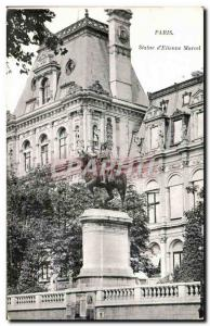 Paris - 4 - Statue of & # 39Etienne Marcel-Old Postcard