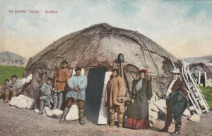 An Eskimo Igloo , Alaska, 1900-10s