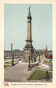 Indianapolis Indiana~Soldiers & Sailors Monument~1920s Postcard