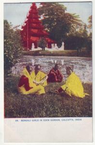P181 JLs water #49 postcard bengal girls calcutta india