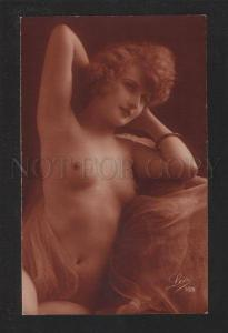 070081 NUDE Lady on Chair LEO vintage PHOTO 103