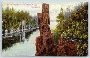 Dalles of the St Croix River Wisconsin~Devil's Chair~Rock Formation~1910 Scenic