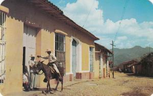 TRINIDAD , Las Villas , Cuba , 1940-50s ; Shades of the Past, The Milk-man
