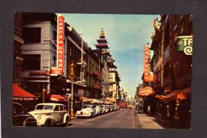 CA Chinatown China Town San Francisco California Calif Postcard Lamps of China