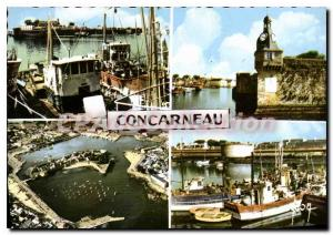 Postcard Old South Finistere Concarneau port and city Close Dungeon and the e...