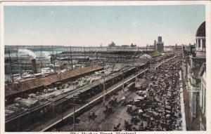 MONTREAL, Quebec, Canada, 1910-1920s; The Harbor Front