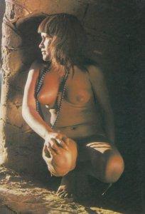 BRASIL NATIVO , 1960-80s ; Young Camaiura girl in her hut