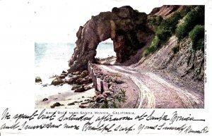 Santa Monica, California - A view of the Arch Rock - in 1906