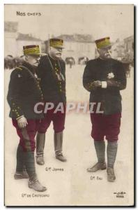 Old Postcard Our Army General Castelnau Joffre Pau leaders