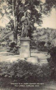 LPS40 CLEVELAND Ohio Villa Angela St. Joseph Seminary for Boys Postcard Monument