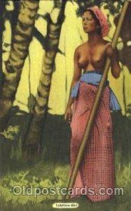Tahitian Girl African Nude Unused