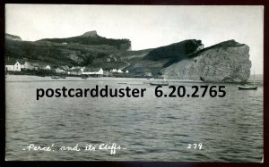 2765 - PERCE Quebec 1931 Panoramic View. Real Photo Postcard by Henderson