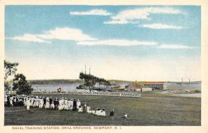 Newport Rhode Island Naval Training Drill Grounds Antique Postcard K93047