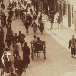 Nativo Calle Europeo Sección Cantón Guangzhou Kwangchow China Foto Estereoscopia