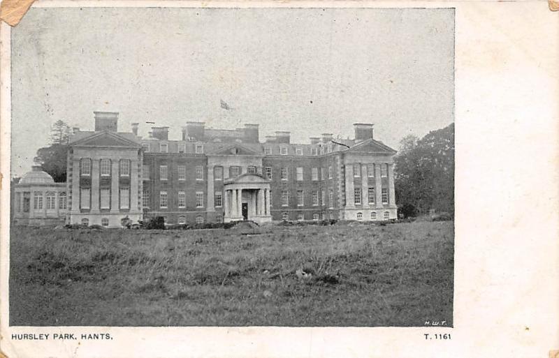 Carte Hampshire Angleterre.England Hants Hursley Park Hippostcard