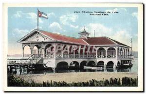 Old Postcard Club nautico Cuba Santiago de Cuba