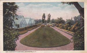 New York Rochester Geo Eastmans Gardens 1919