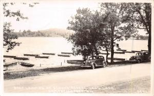 B20/ Campbellsport Wisconsin Wi Real Photo RPPC Postcard 1953 Long Lake Boats