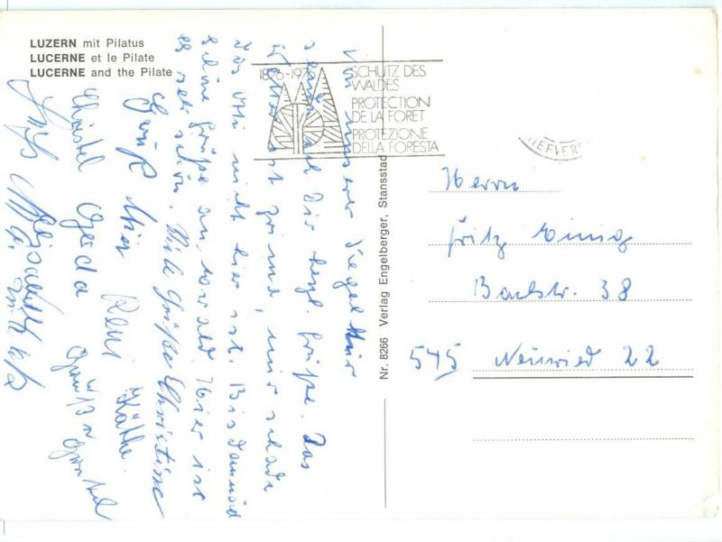 Switzerland, Lucerne, Luzern, and the Pilate, used Postcard