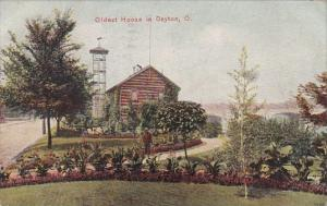 Ohio Dayton Oldest House In Dayton 1908