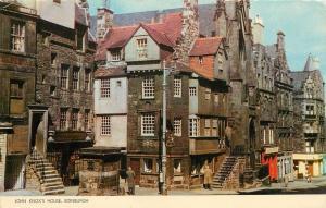 John Knox's House Edinburgh Scotland pm 1960s Postcard