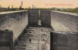 Panama Canal View Of The Lock Chamber Of Gatun