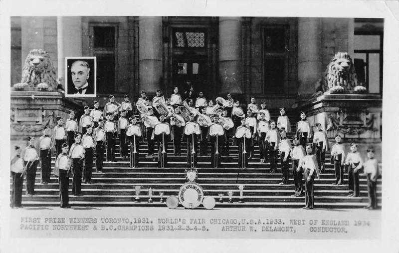 Vancouver Canada Kitsilano Boys' Band Real Photo Vintage