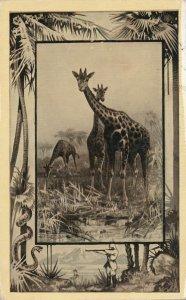 Africa Safari 1909 Series by Mintz of Chicago - Giraffe - DB