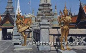 Bangkok Thailand Kinarees guarding Buddha Temple  Kinarees guarding Buddha Te...