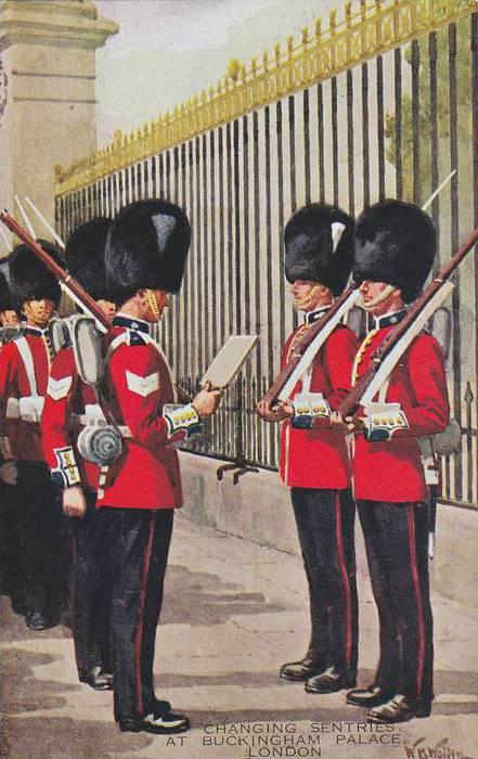 AS, Changing Sentries At Buckingham Palace, London, England, UK, 1900-1910s