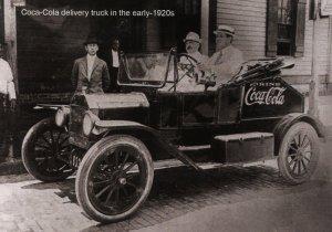 Coca-Cola Delivery Truck circa early 1920's   (Photo Reprint, 5.75 X 4)