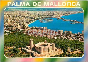 Postcard Modern Mallorca (Baleares) Espana Palma vista aerea of ??Ciudad en p...