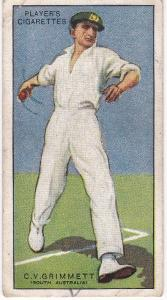 Cigarette Cards Player's Cricketers 1930 No 18 - C V Grimmett