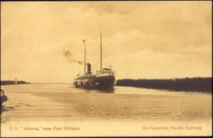 canada, FORT WILLIAM, Ontario, Steamer S.S. Alberta (1910s)
