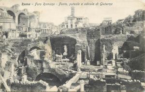 Italy Roma Foro Romano fonte puteale e edicola di Giuturna